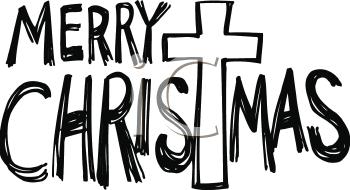 350x190 Merry Christmas Clipart Cross