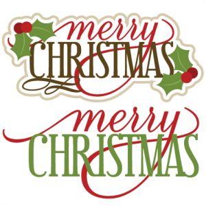 300x300 Merry Christmas Clipart Word Art