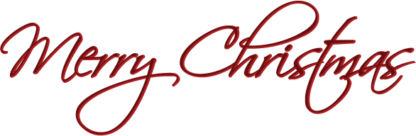 586x192 Red Merry Christmas Clipart