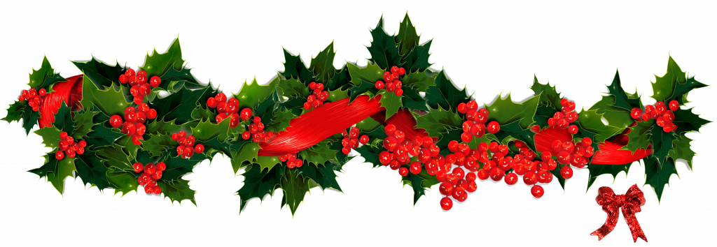 1024x354 Christmas ~ Phenomenal Christmas Wreath Clip Art Images Black