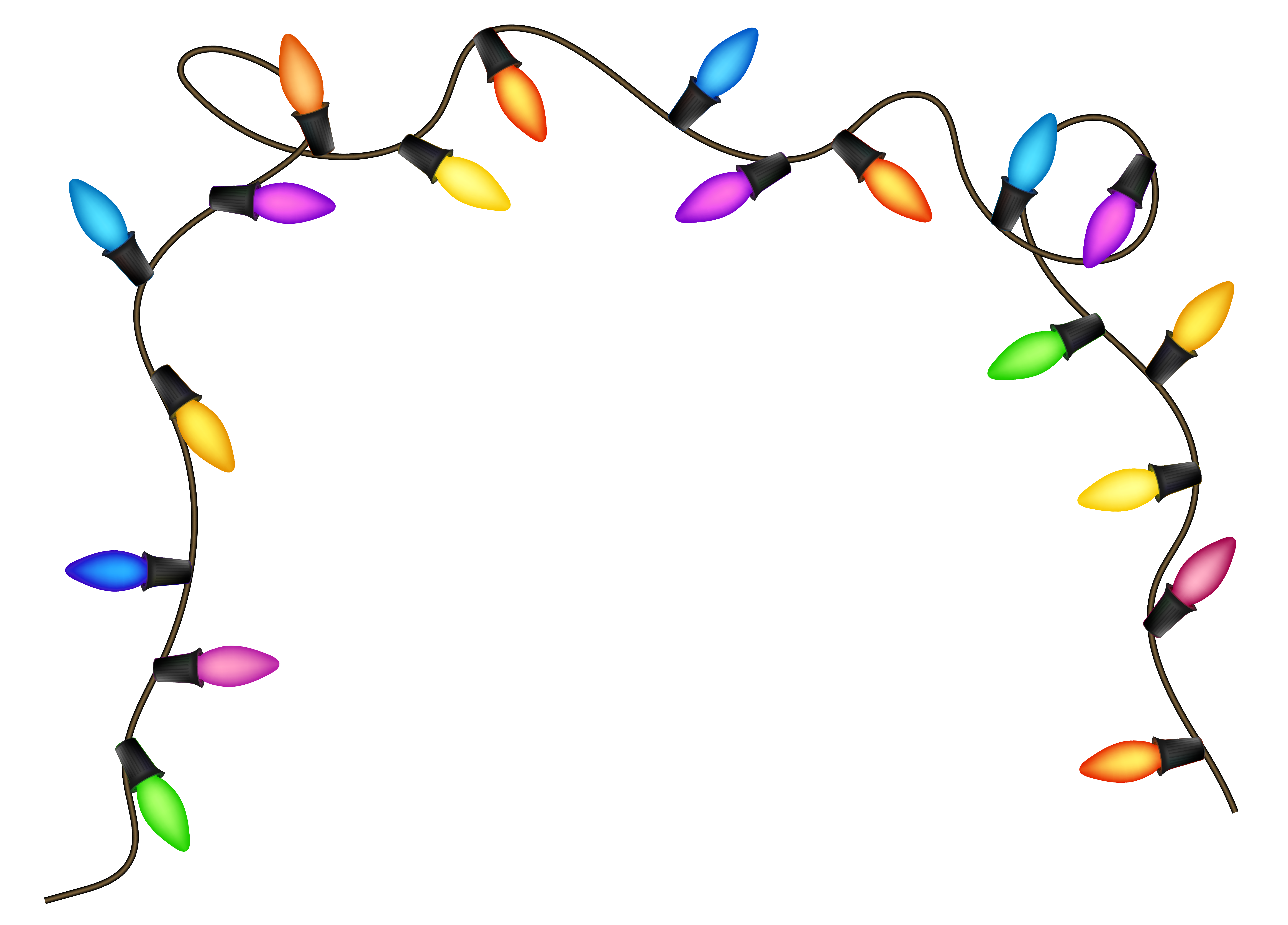 5937x4264 Christmas Lights Clipart