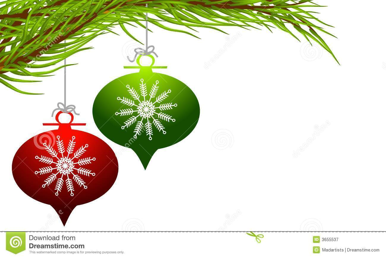 1300x870 Christmas Decorations Clipart Borders Free