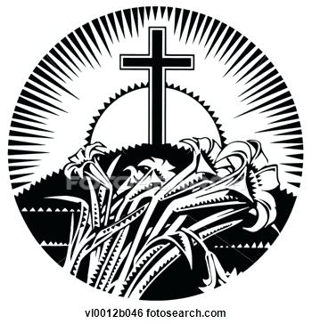 350x364 Free Religious Clipart Cross Black And Free Religious Clip Art