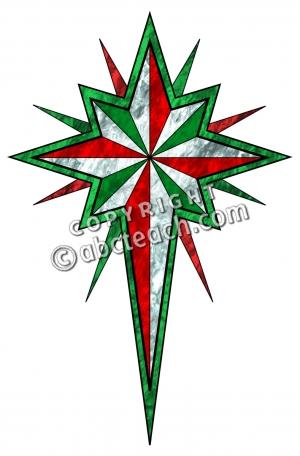 300x456 Religious Christmas Star Clip Art
