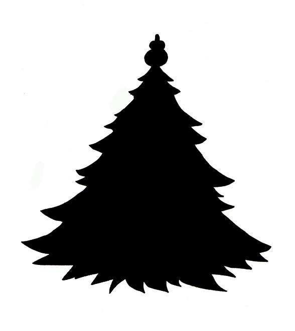 588x661 Christmas Tree Silhouette Clipart