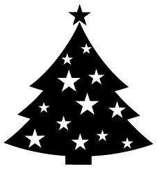 226x243 Christmas Tree Clipart Silhouette
