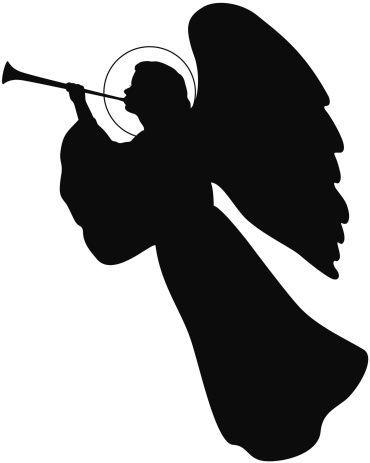 370x463 Best Angel Silhouette Ideas Angel Wings Clip