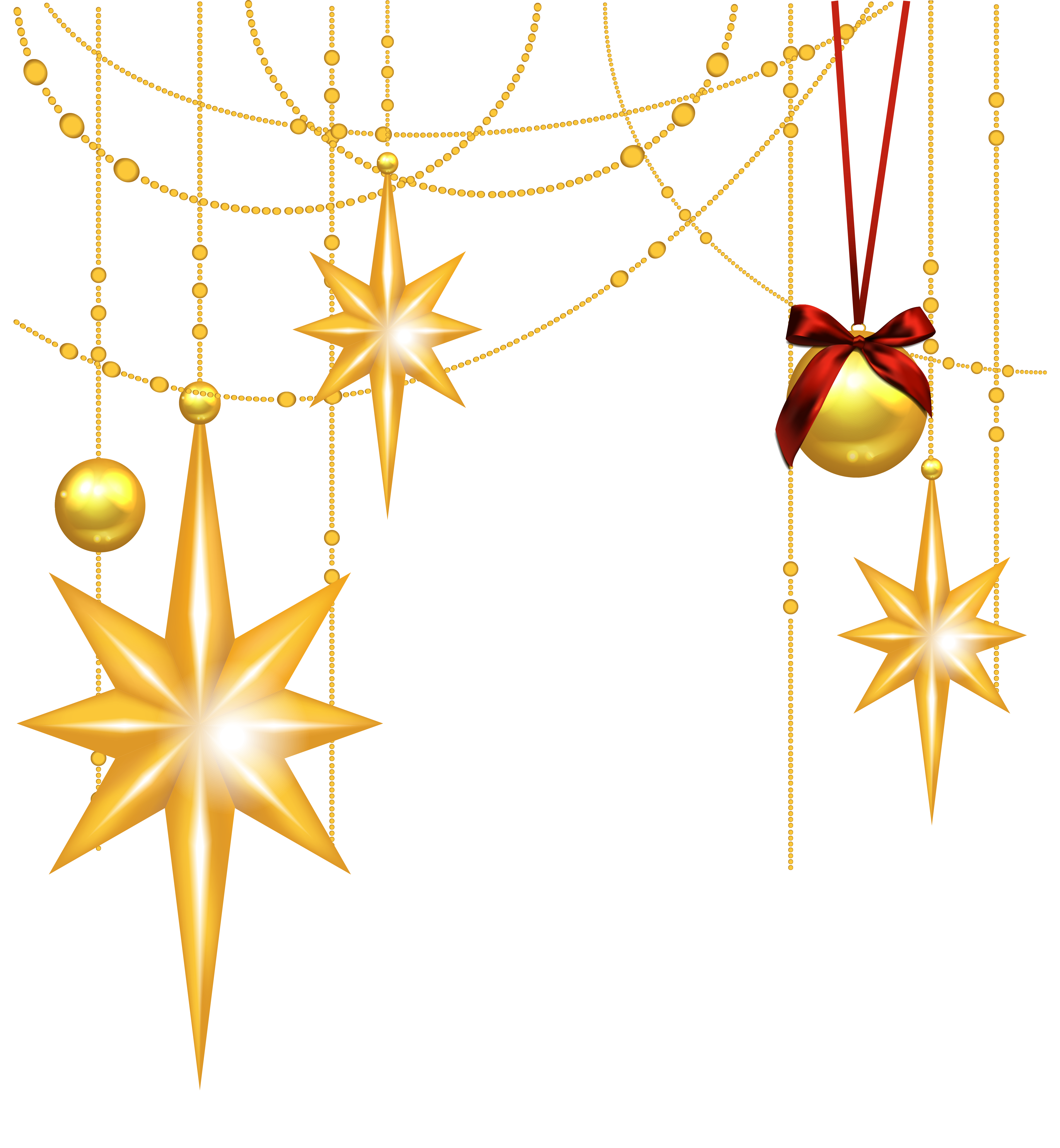 4861x5264 Transparent Christmas Gold Stars And Ornament Clipartu200b Gallery