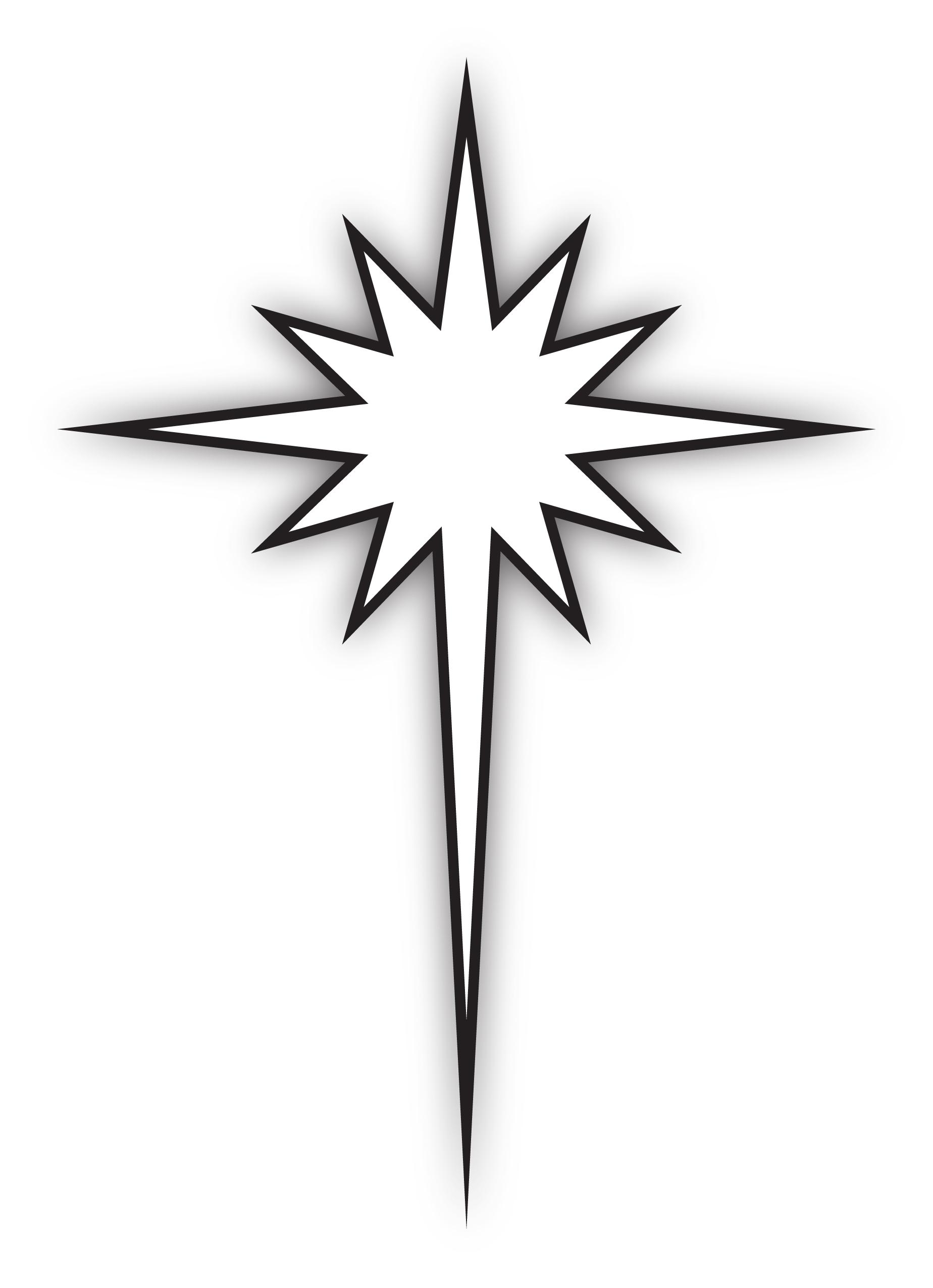 1848x2551 Bethlehem Star Clipart