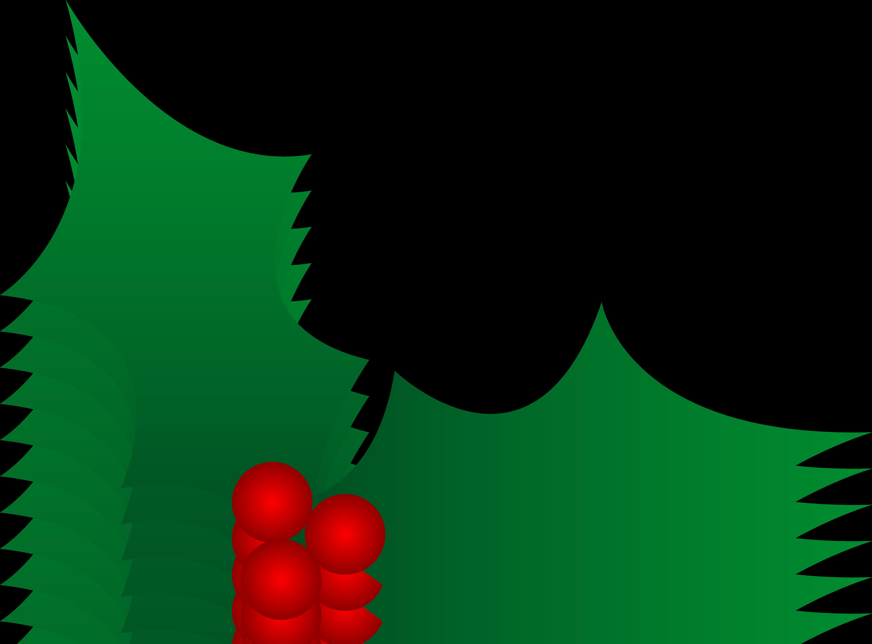 5609x4141 Clipart Christmas Holly