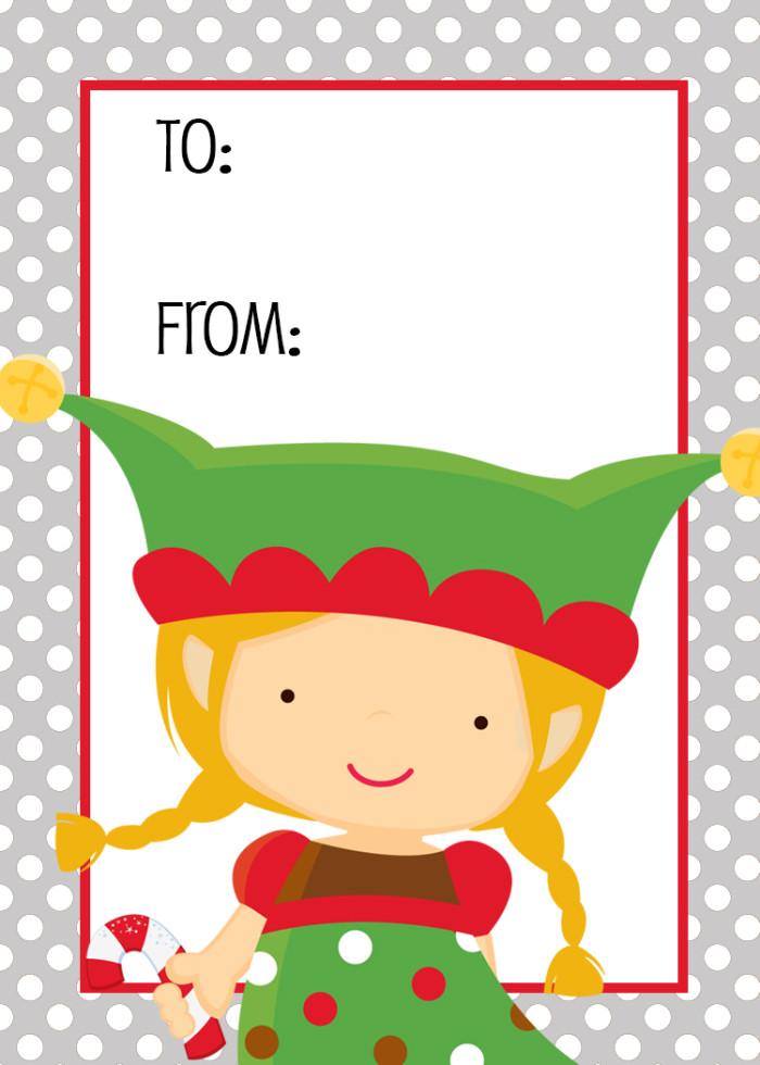 700x980 Elf Christmas Gift Tag Printable