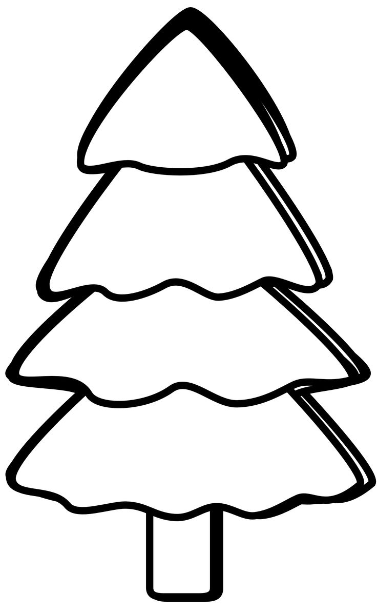 Christmas Clipart To Colour