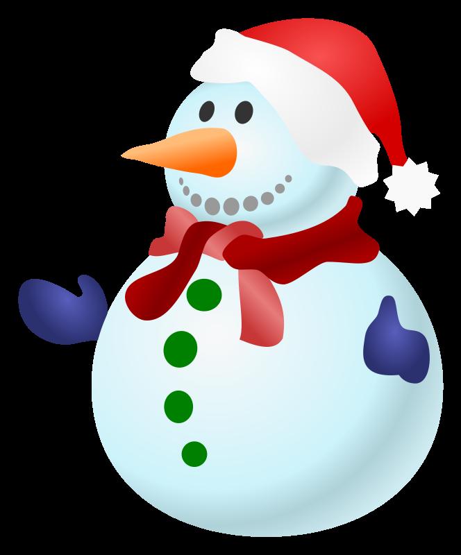 664x800 Free Clipart Snowman