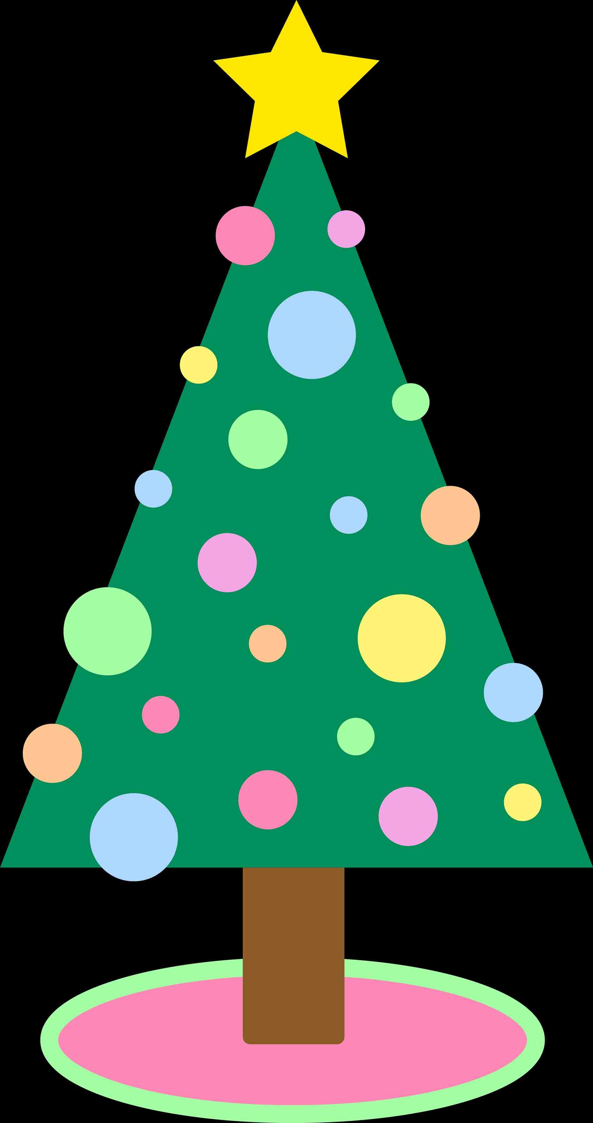 1899x3596 Tree Christmas Ornament Clipart Free Transparent Background
