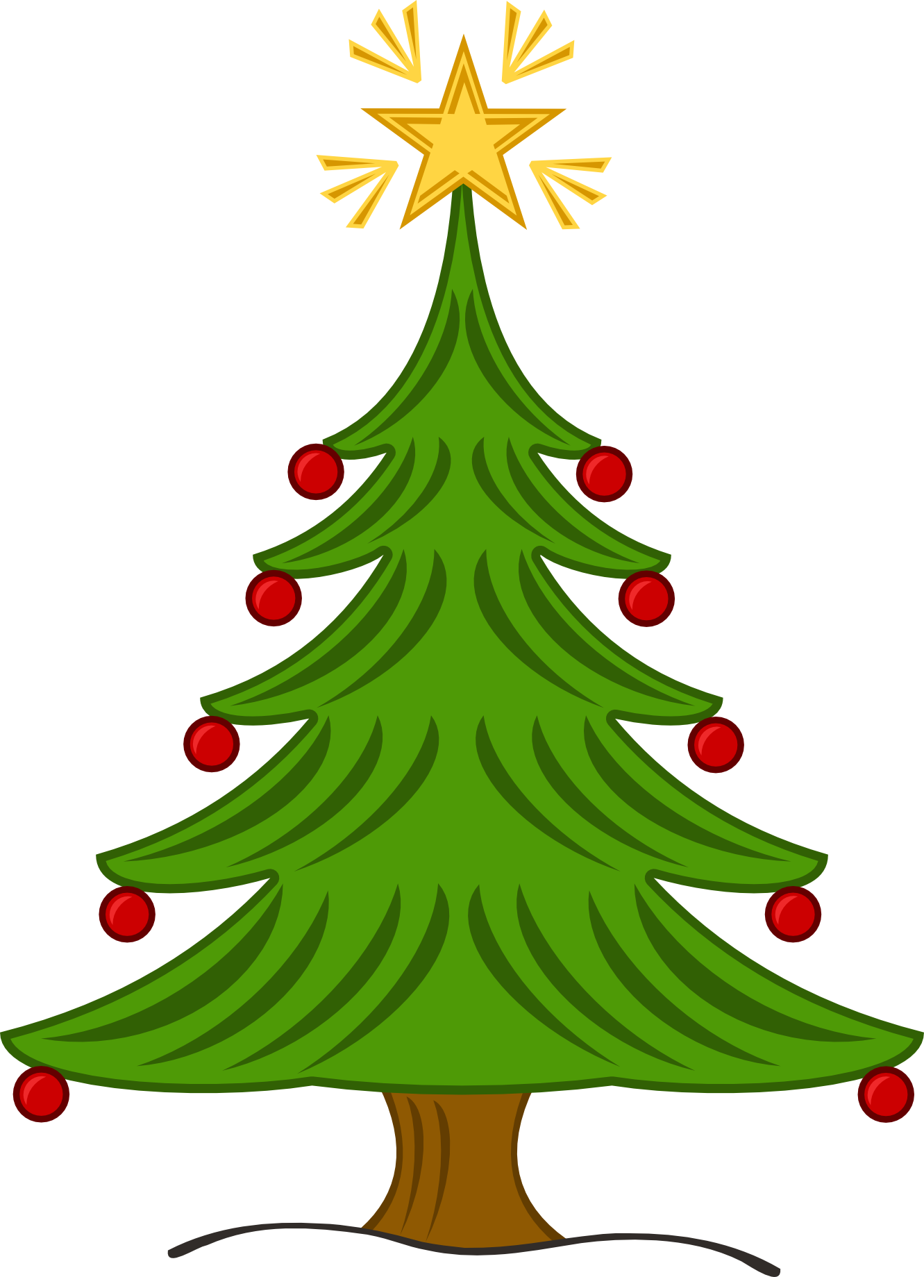 1331x1839 Christmas Tree Clip Art With Lights Free Clipart