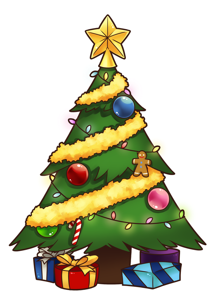 717x1000 Christmas Tree Free To Use Clip Art