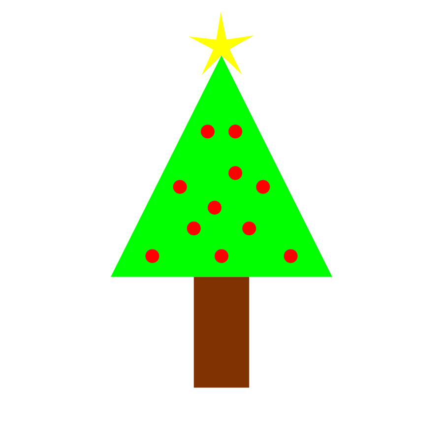 900x900 Small Clipart Christmas Tree