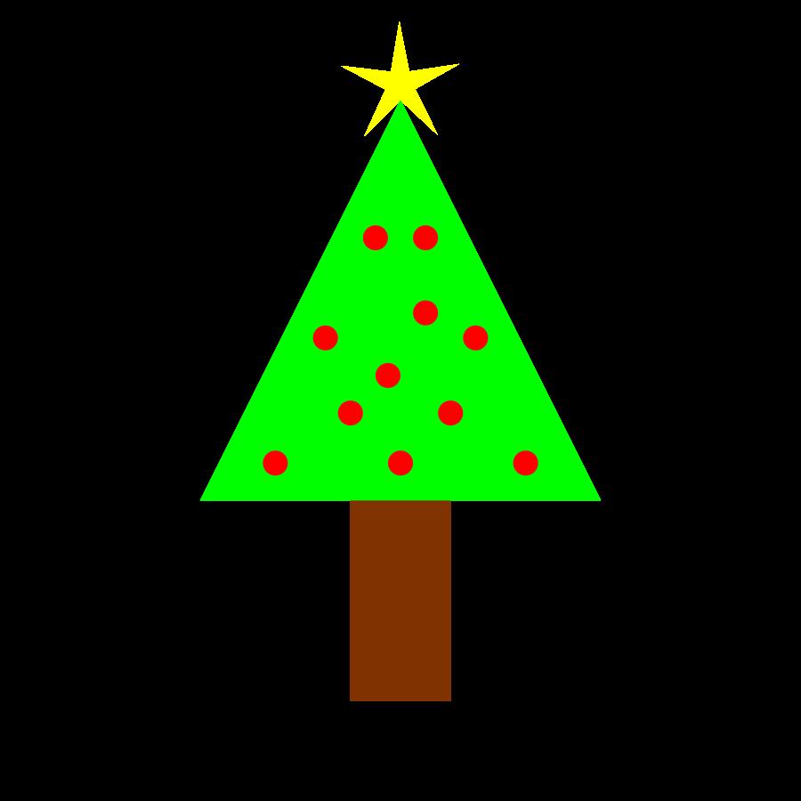 900x900 Small Clipart Christmas Tree