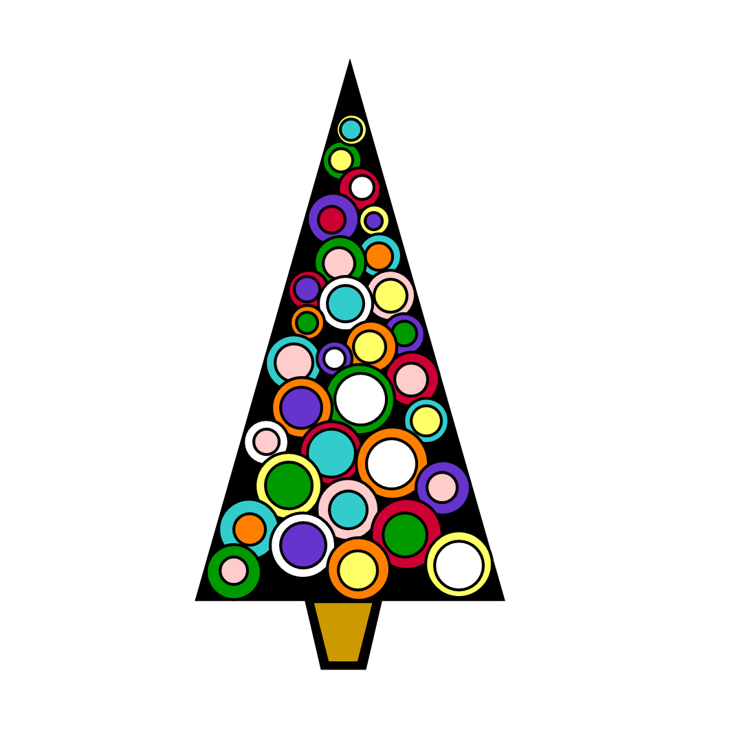 1072x1072 Triangle Clipart Christmas Tree