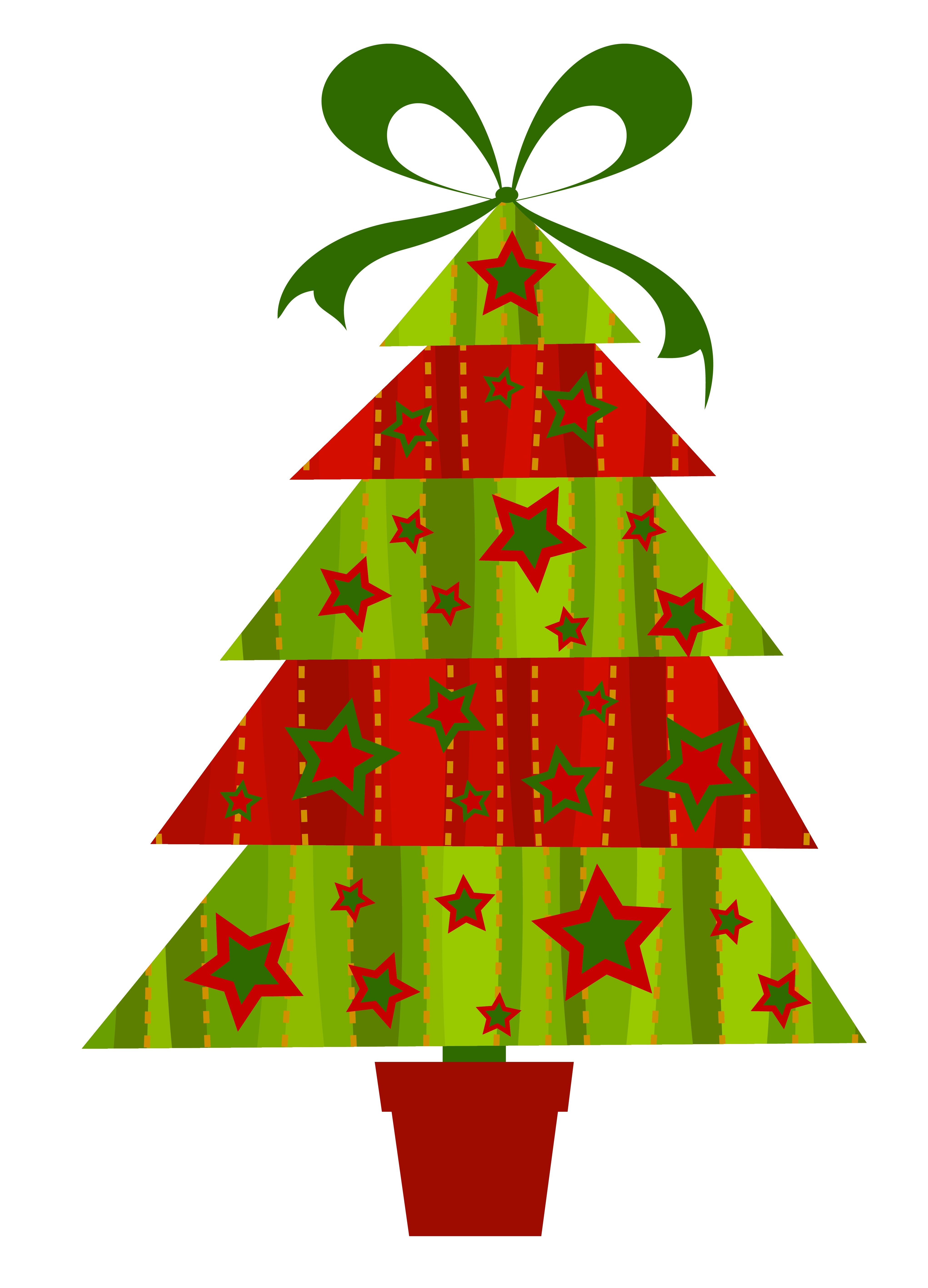4083x5663 Free Christmas Tree Clipart Downloads