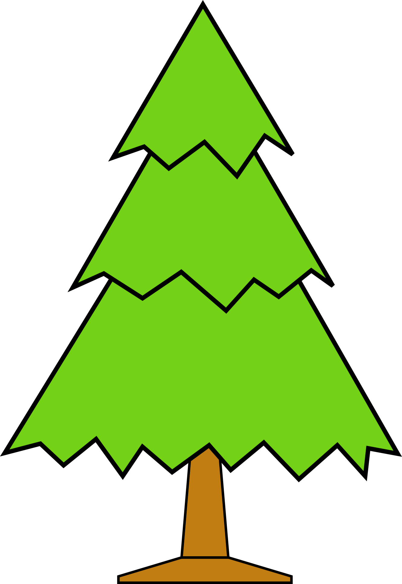 1331x1935 Outline Of Christmas Tree Clip Art
