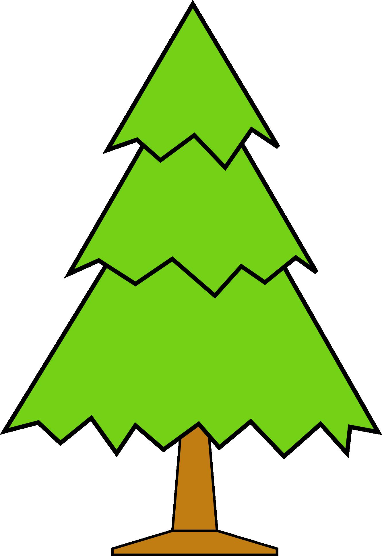 1331x1935 Outline Of Christmas Tree Clip Art