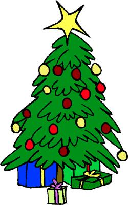 250x400 Christmas Tree Clip Art Free