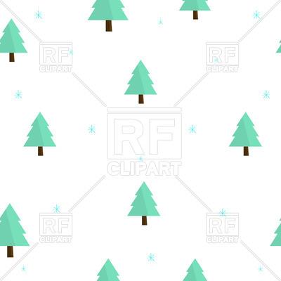 400x400 Seamless Christmas Wallpaper With Cartoon Fir Tree Royalty Free