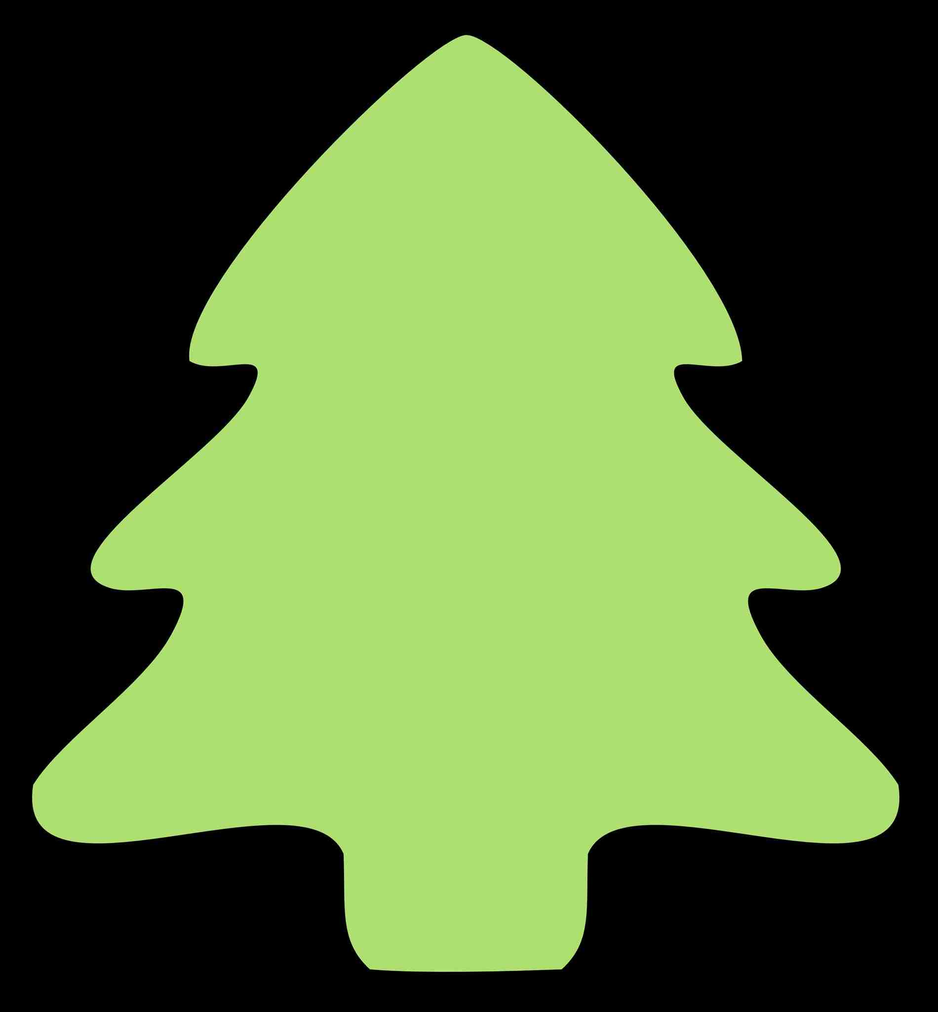 1900x2050 Christmas Tree Clip Art Transparent Background Black And White