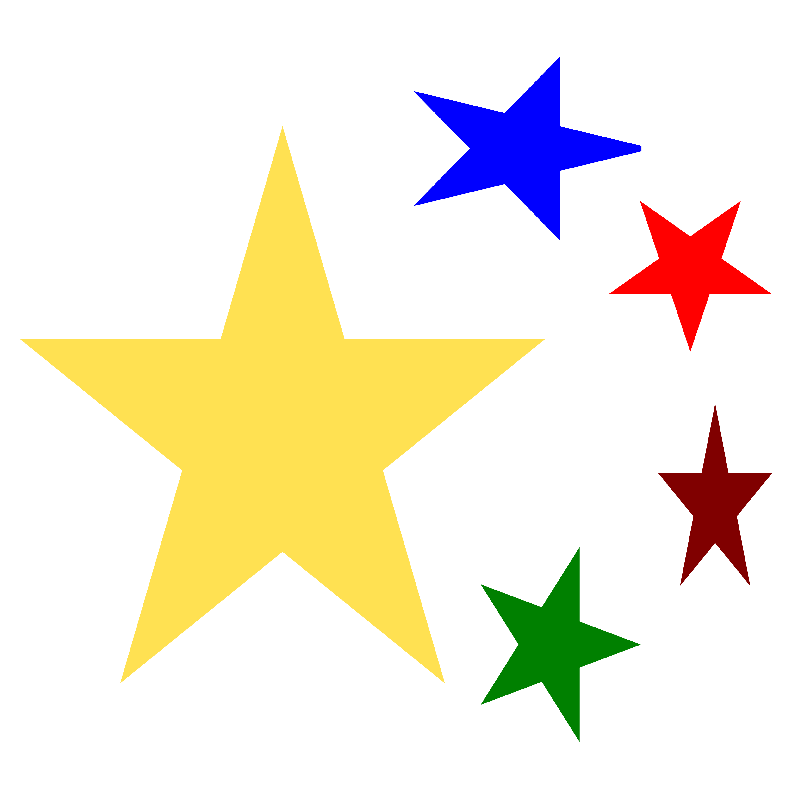 3333x3333 Christmas Stars Clipart Without Background