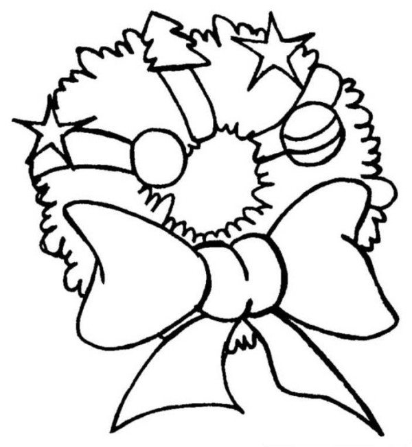 600x652 Christmas Ornament Merry Christmas Coloring Page