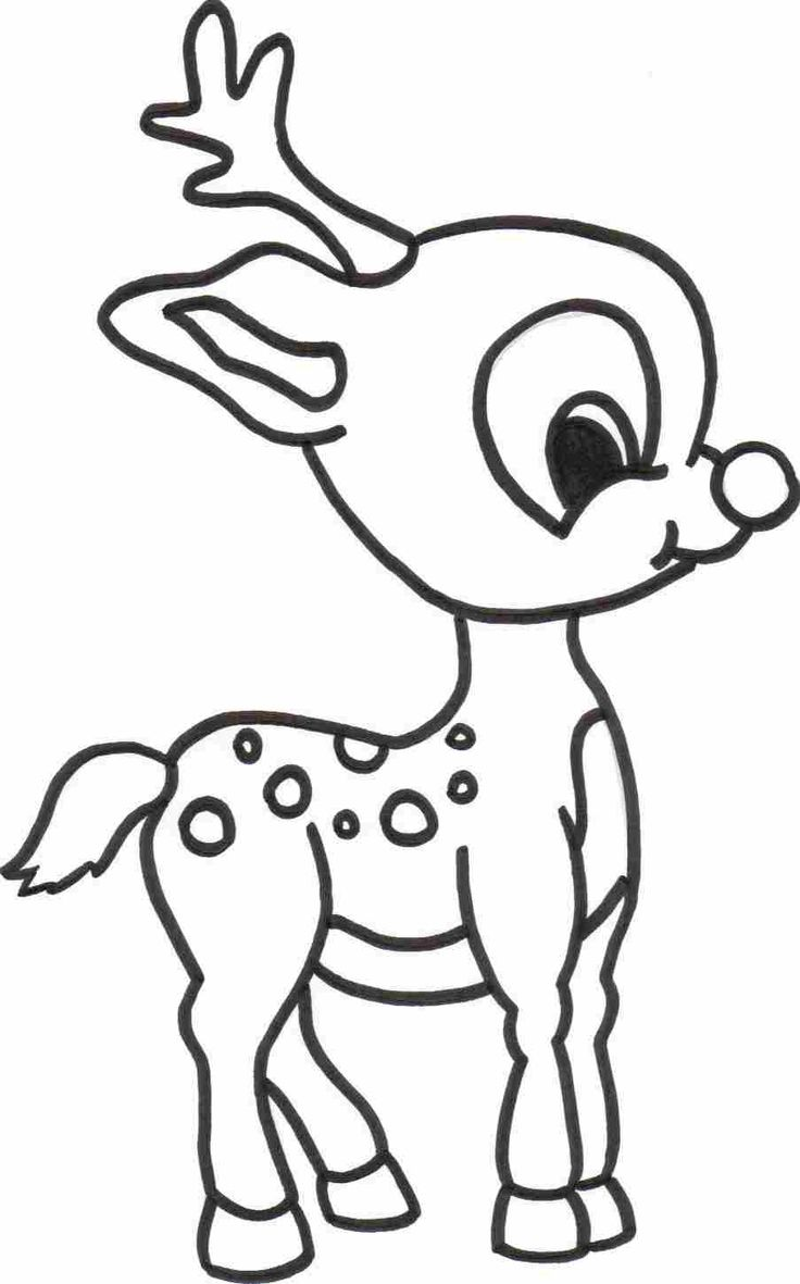 736x1181 coloring pages baby reindeer