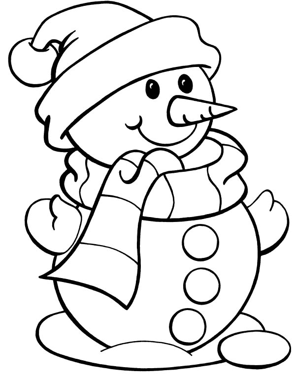 601x768 drawn snowman christmas coloring page