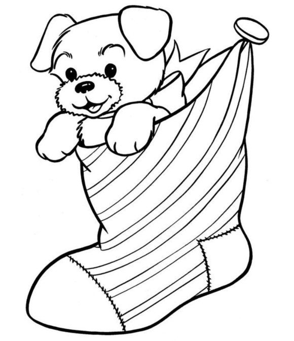 580x673 Free Coloring Pages Christmas Stocking