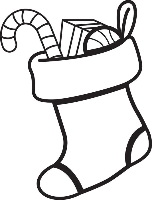 533x700 Free Printable Christmas Stocking Coloring Page For Kids