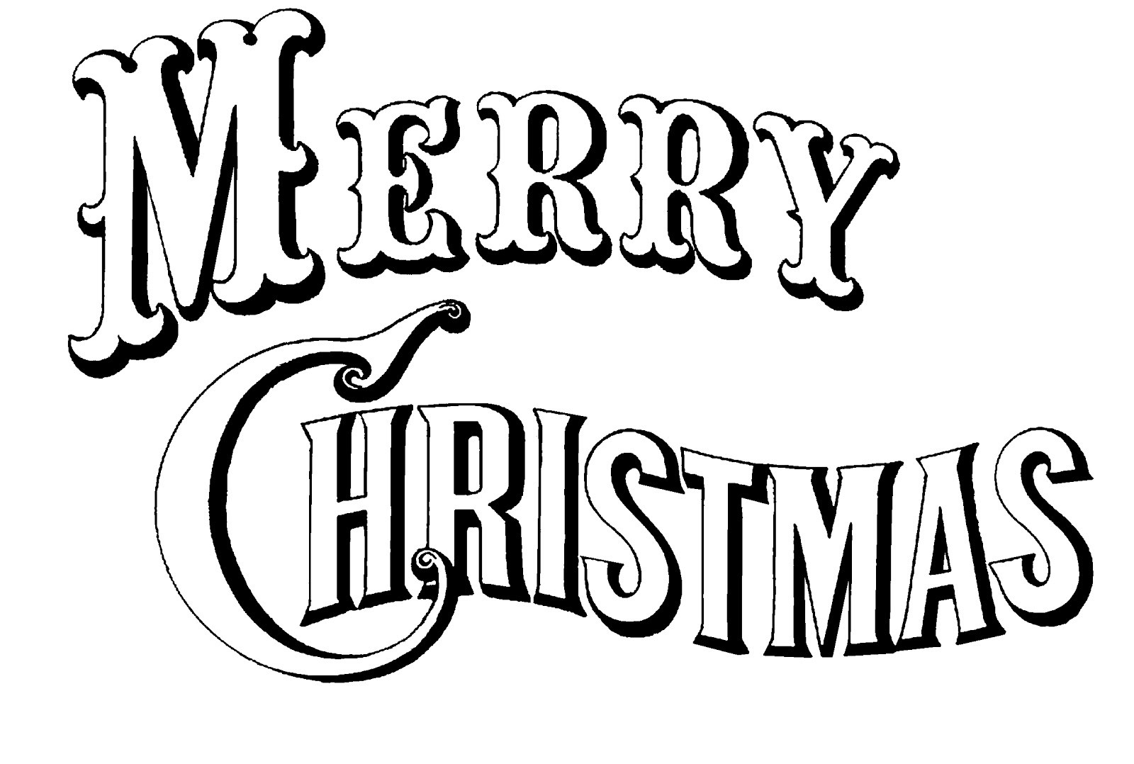 1600x1078 Merry Christmas Coloring Pages Printable Free For Kids