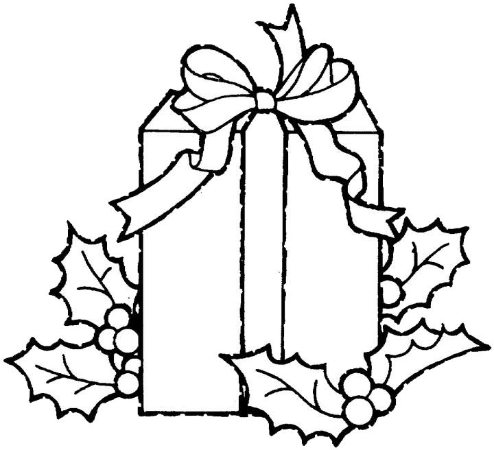 720x656 The Best Christmas Gift Coloring Pages Ideas