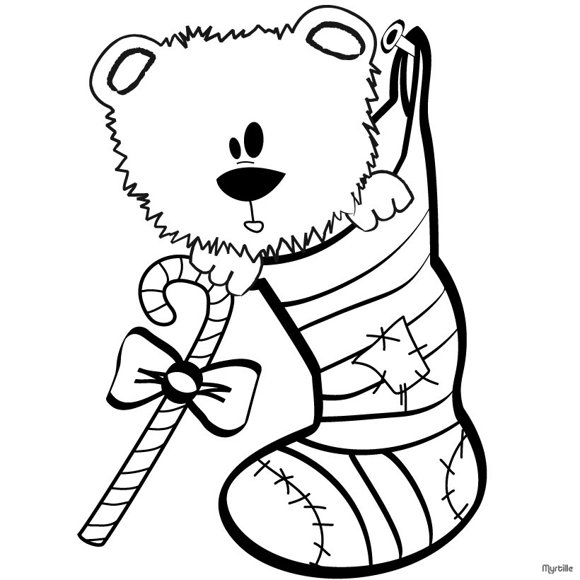 820x820 CHRISTMAS STOCKINGS Coloring Pages