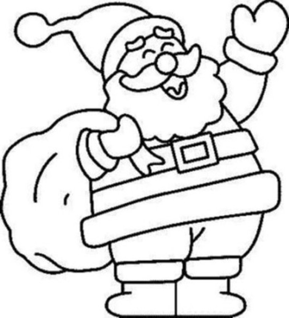 580x638 christmas clip art coloring pages