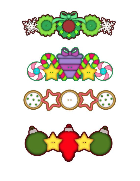 Christmas Cookie Border Clipart