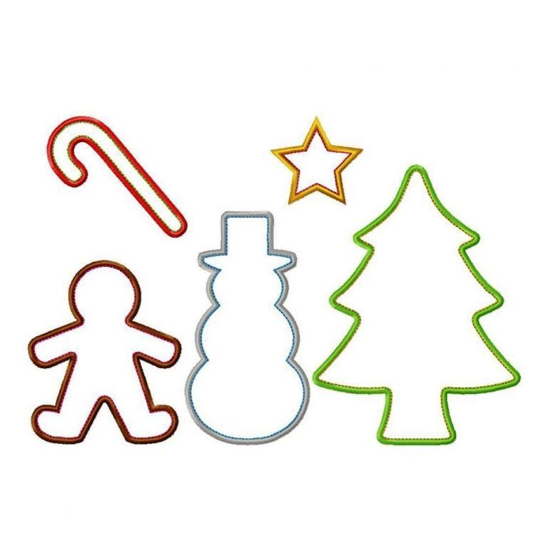 768x768 Christmas Cookie Cutter Clip Art Regarding Christmas Cookie