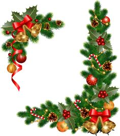 Christmas wreath corner. Corners free download best
