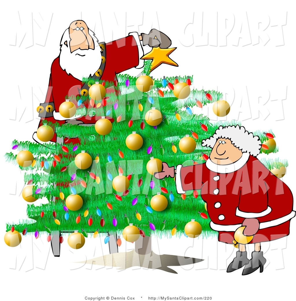 1024x1044 Christmas Tree Decorating Clipart