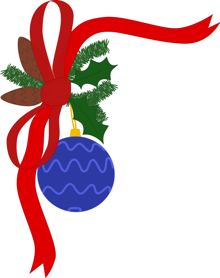 712x900 Free Clipart Holiday Decorations