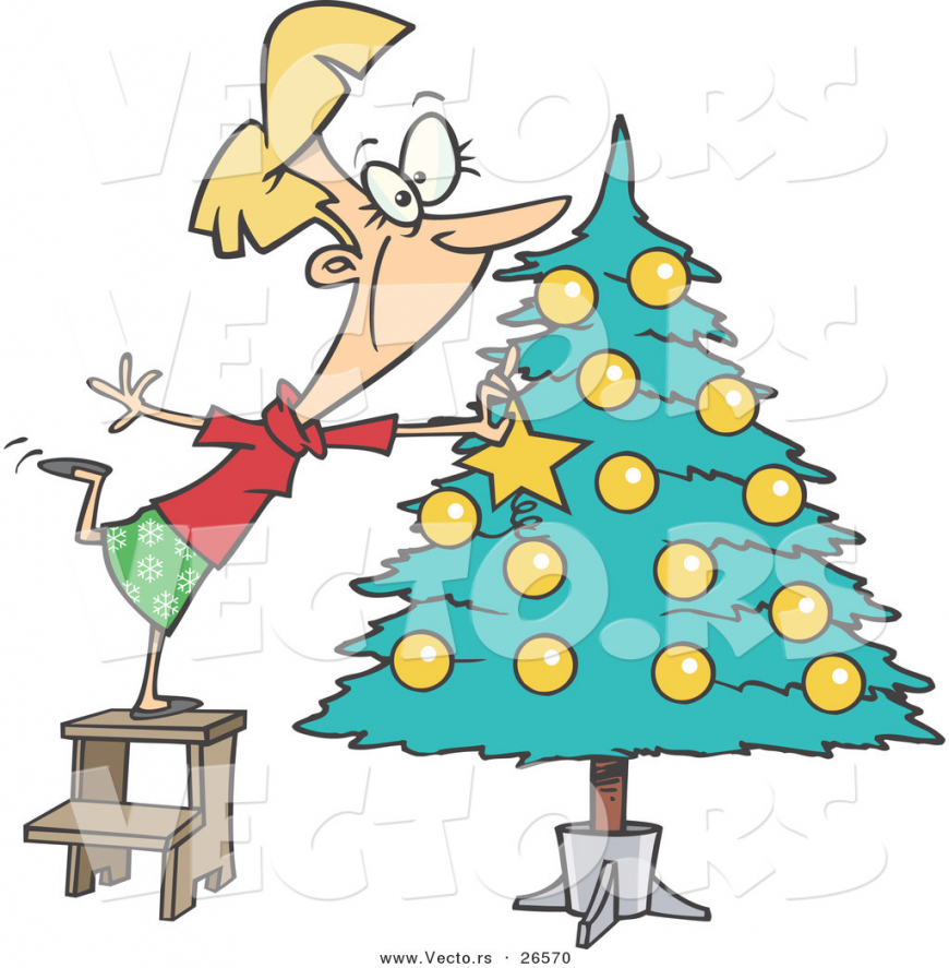 870x887 Clipart Christmas Decorating