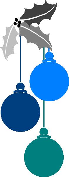 234x600 Christmas Ornaments Clip Art