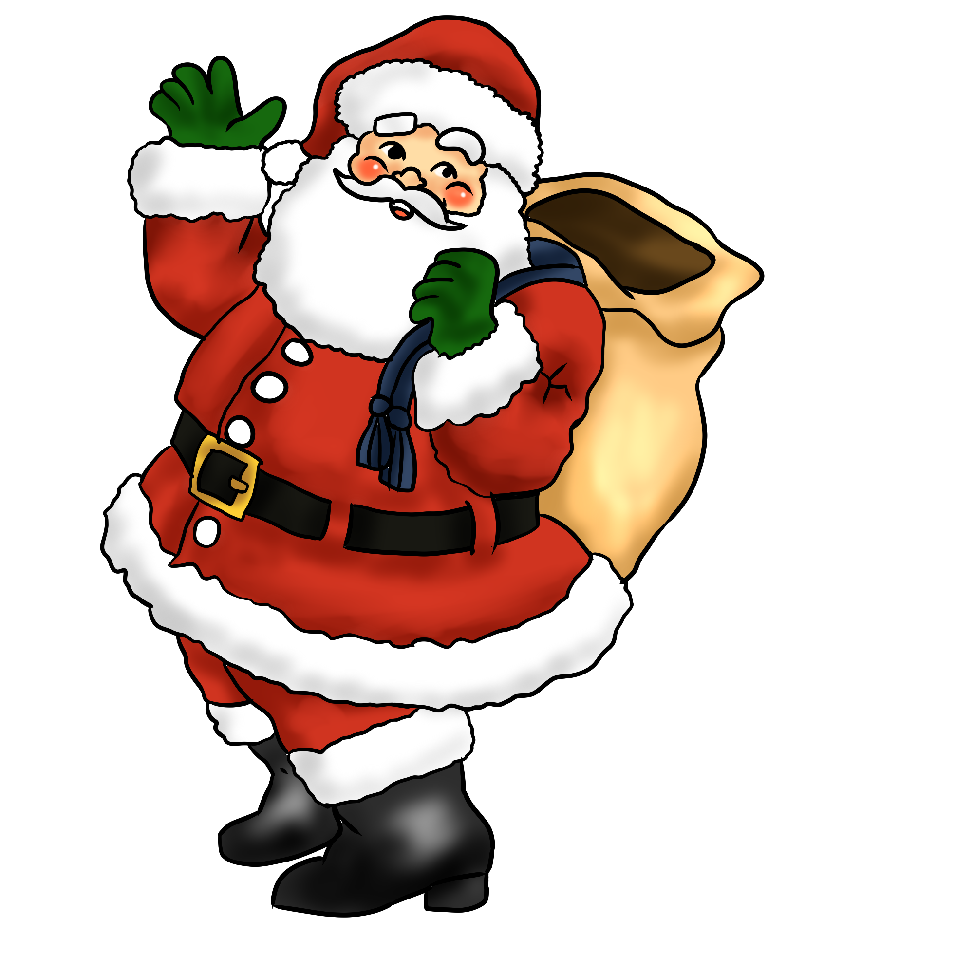 2000x2000 Free Santa Clipart