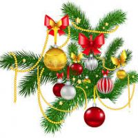 200x200 Christmas Decorations Clipart