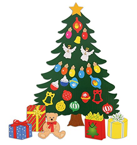 438x463 Christmas Decoration. Animated Tree Magnet Set