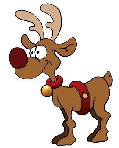 400x500 Christmas Reindeers Santa And Reindeer Clipart Clip Art Library